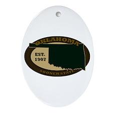 Oklahoma Est. 1907 Ornament (Oval)