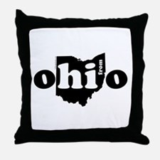 Hi From Ohio Throw Pillow