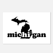 Hi From MI Postcards (Package of 8)