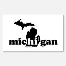 Hi From MI Sticker (Rectangle 10 pk)