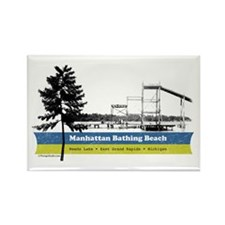 M. Beach Rectangle Magnet