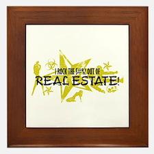 I ROCK THE S#%! - REAL ESTATE Framed Tile