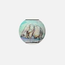 Elephant, Mini Button (10 pack)