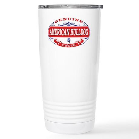 American Bulldog Owner Stainless Steel Travel Mug