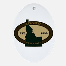 Idaho Est. 1890 Ornament (Oval)