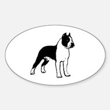 American Staffordshire Terrier Oval Decal