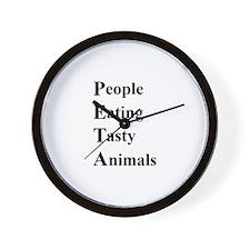 Tasty PETA Wall Clock