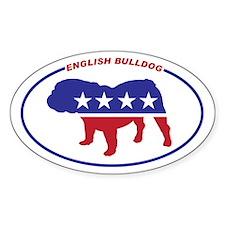 English Bulldog Political Decal