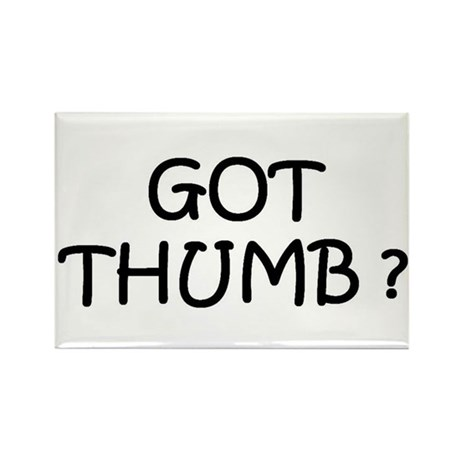 Got Thumb Rectangle Magnet (10 pack)