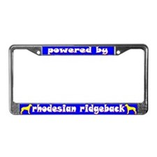Powered by Rhodesian Ridgeback License Plate Frame