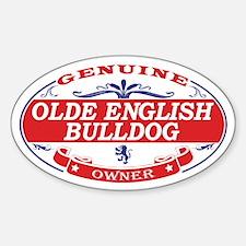 Olde English Bulldog Owner Sticker (Oval)