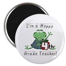 Hoppy 4th Grade Teacher Magnet