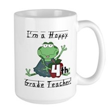 Hoppy 4th Grade Teacher Mug