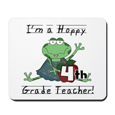 Hoppy 4th Grade Teacher Mousepad
