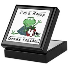Hoppy 4th Grade Teacher Keepsake Box