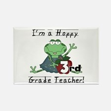 Hoppy 3rd Grade Teacher Rectangle Magnet