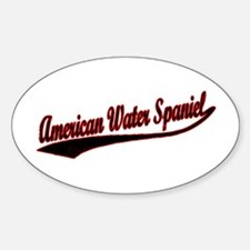 American Water Spaniel Varsity Oval Decal