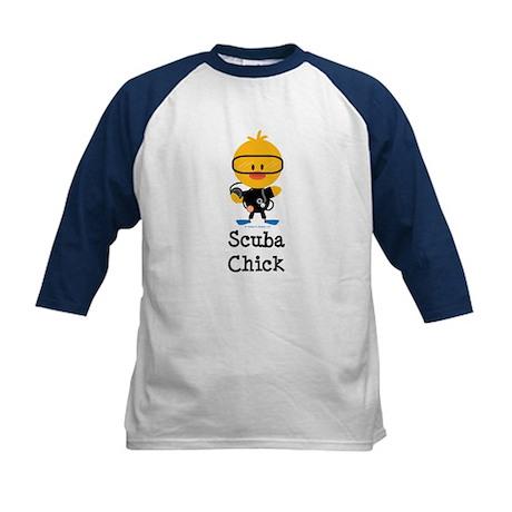 Scuba Chick Kids Baseball Jersey
