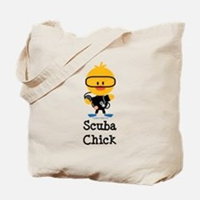 Scuba Chick Tote Bag