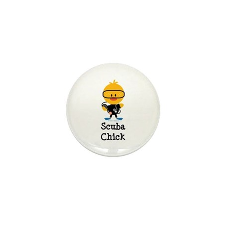 Scuba Chick Mini Button (10 pack)