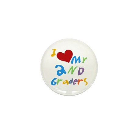 I Love My 2nd Graders Mini Button (10 pack)