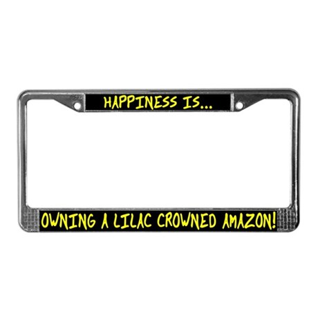 HI Owning Lilac Crowned Amazon License Plate Frame