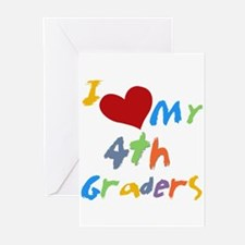 I Love My 4th Graders Greeting Cards (Pk of 10)