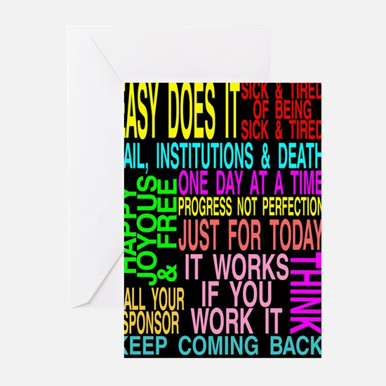 12 STEP SLOGANS Greeting Cards (Pk of 20)