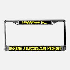 HI Owning Maximilian Pionus License Plate Frame