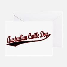 Australian Cattle Dog Varsity Greeting Cards (Pack