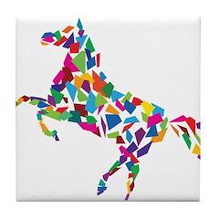 Abstract Horse Tile Coaster