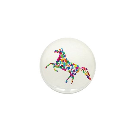 Abstract Horse Mini Button (100 pack)
