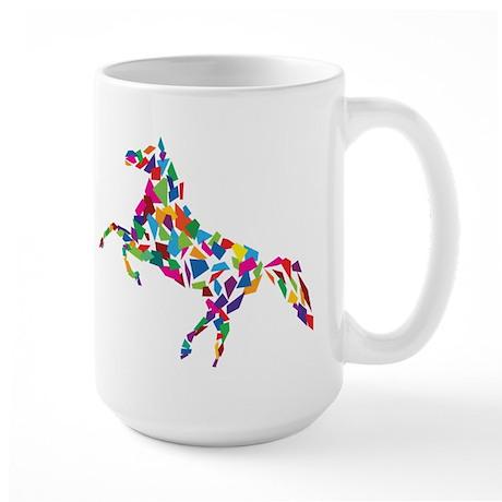 Abstract Horse Large Mug