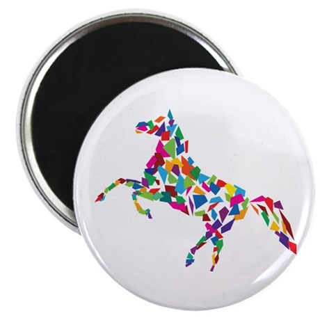 """Abstract Horse 2.25"""" Magnet (10 pack)"""