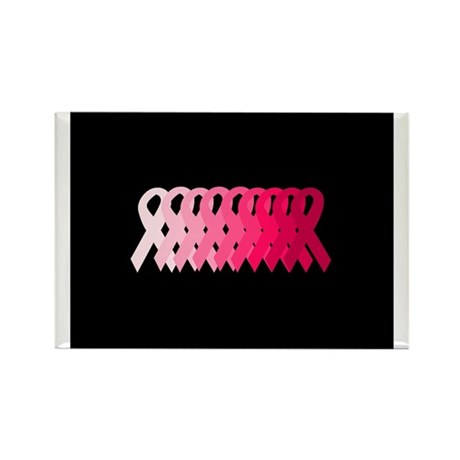 Breast Cancer Awareness Ribbo Rectangle Magnet (10