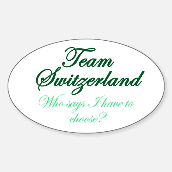 Team Switzerland Sticker (Oval)