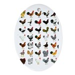 49 Roosters Ornament (Oval)