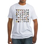 49 Roosters Fitted T-Shirt