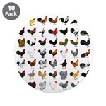 """49 Roosters 3.5"""" Button (10 pack)"""