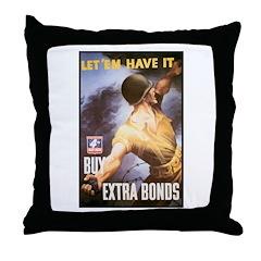 Let Em Have It Throw Pillow