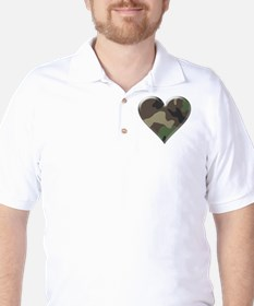 Camouflage Heart Military Love T-Shirt
