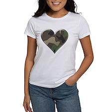 Camouflage Heart Military Love Tee