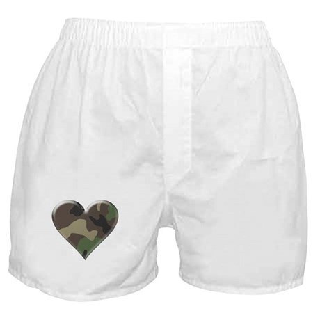 Camouflage Heart Military Love Boxer Shorts