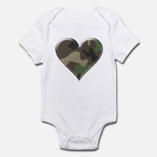 Camouflage Heart Military Love Infant Creeper