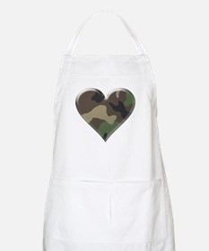 Camouflage Heart Military Love BBQ Apron