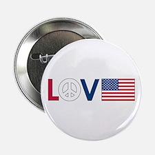 """Love Peace America 2.25"""" Button"""