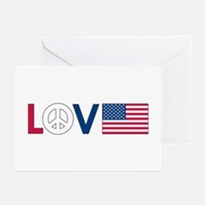 Love Peace America Greeting Cards (Pk of 10)