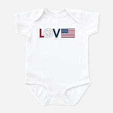 Love Peace America Infant Bodysuit