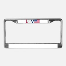 Love Peace America License Plate Frame