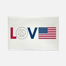 Love Peace America Rectangle Magnet